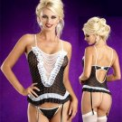 Pearl and Lace Polka Dot Bustier