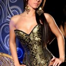 Brocade Corset with Matching G String Black
