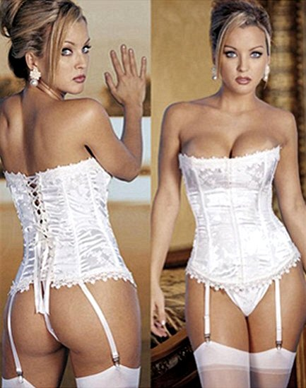Floral Tapestry Corset White
