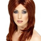 Straight Tapered Suburn Wig