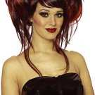 Double Updo Brown and Copper Red Wig