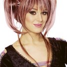 Punk Rock Double Pig Tail Updo Three Color Streaked Wig