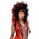 Punk Rock Gothic Girl Straight with Braided Wig Multi Color
