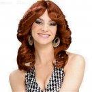 Pretty Disco Girl Red Auburn Wig