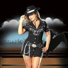 Five Piece Bling Rhinestone Cowgirl Costume Set