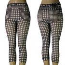 Checkered Pattern Footless Leggings