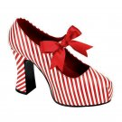 Ladies Red Striped with Bow Punk Rock Gothic Platform Heels