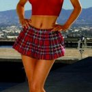 Racy Red Sexy School Girl Two Piece Costume Set
