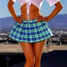 Sexy School Girl Two Piece Costume Set Blue and White