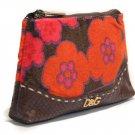 Dolce & Gabbana Multi Colors Fabric/Leather Clutch