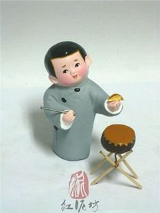 Hand Painted Clay Doll cl86393