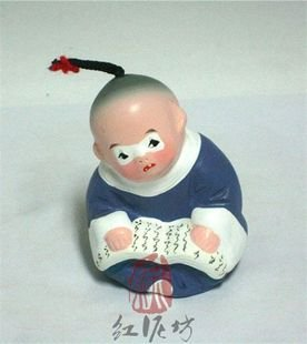 Hand Painted Clay Doll cl86402
