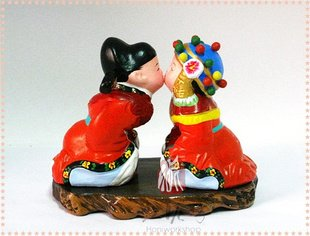 Hand Painted Clay Doll w86219