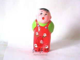 Hand Painted Clay Doll k816
