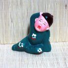 Hand Painted Clay Doll k835