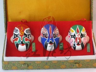 Hand Painted Clay Doll cu503 Beijing Opera Mask