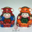 Hand Painted Clay Doll cu86418