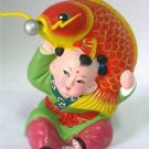 Hand Painted Clay Doll cu02089