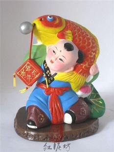 Hand Painted Clay Doll cu66065