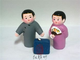Hand Painted Clay Doll cu86392