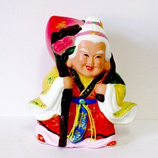 Hand Painted Clay Doll b06028