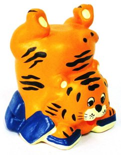 Hand Painted Clay Doll  a0966 tiger