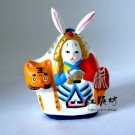 Hand Painted Clay Doll  a66024-2 rabbit