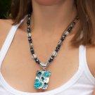 Blue Swirls Pendant Necklace was $32.95