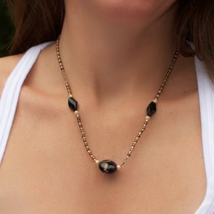 Bronze and Black Necklace was $26.95