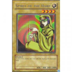 Spirit Of The Harp LOB-078 Rare Yu-Gi-Oh card