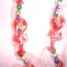 Brand New Flashing Mardi Gras Beads with Crawfish
