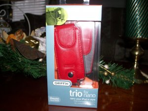 Griffin Genuine Leather Custom Case for iPod Nano G1 G2 Red
