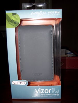 Griffin vizor Leather Case for 30GB 60GB 80GB iPod with Video - Grey