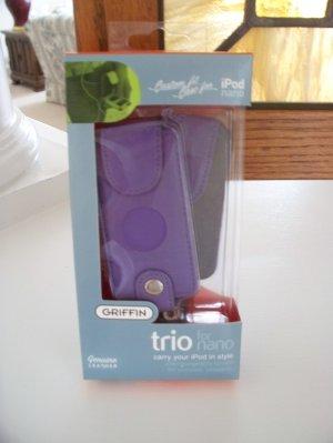 Griffin Genuine Leather Custom Case for iPod Nano G1 G2 Purple