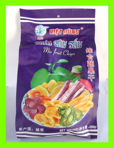 MIXED FRUIT CHIPS TASTY HEALTHY SNACK - USA SELLER
