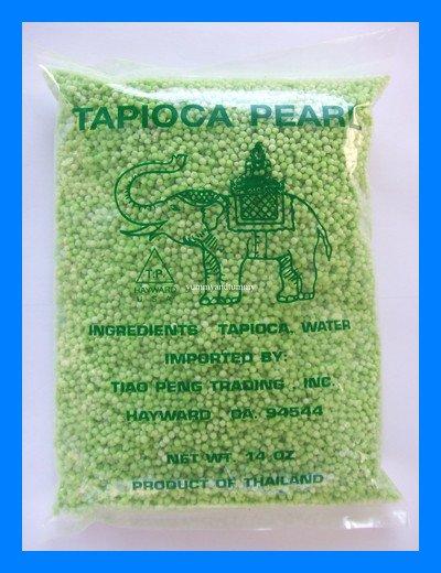 THAI MINI GREEN TAPIOCA PEARLS ALL NATURAL - USA SELLER