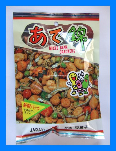 MIXED BEAN CRACKERS WITH FISH JAPANESE SNACK - USA SHIP