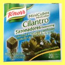 KNORR BRAND CILANTRO SEASONING CUBES (20 CUBES) FOR MEAT, FISH, SOUPS, AND MORE