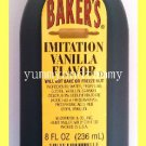 BAKER'S IMITATION VANILLA FLAVOR - WILL NOT BAKE OR FREEZE OUT - USA SELLER