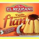 EL MEXICANO BRAND VANILLA CARAMEL CUSTARD FLAN DESSERT - USA SELLER