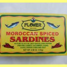 4 CANS MOROCCAN SPICED SARDINES IN PURE OLIVE OIL HOT SAUCE