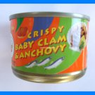 4 CANS THAI CRISPY BABY CLAMS AND ANCHOVIES FISH - USA SELLER