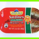 4 CANS TASTY SARDINES IN SPICY BLACK BEANS - RICH IN OMEGA 3