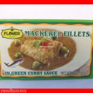 4 CANS MACKEREL FISH FILLETS IN GREEN CURRY SAUCE - USA SELLER