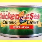 4 CANS CHUNK LIGHT TUNA IN OIL 12 OUNCES EACH CAN - USA SELLER