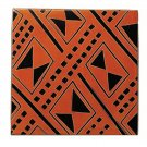 Rust Hand Crafted African Stone Trivets in Geometric Textile Motif