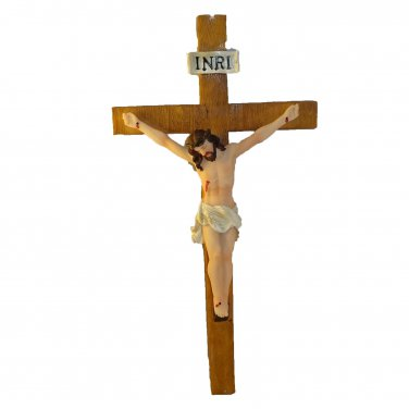 Jesus on the Cross Crucifix Religion Decor 11.5 Inch Height Wall Hanging