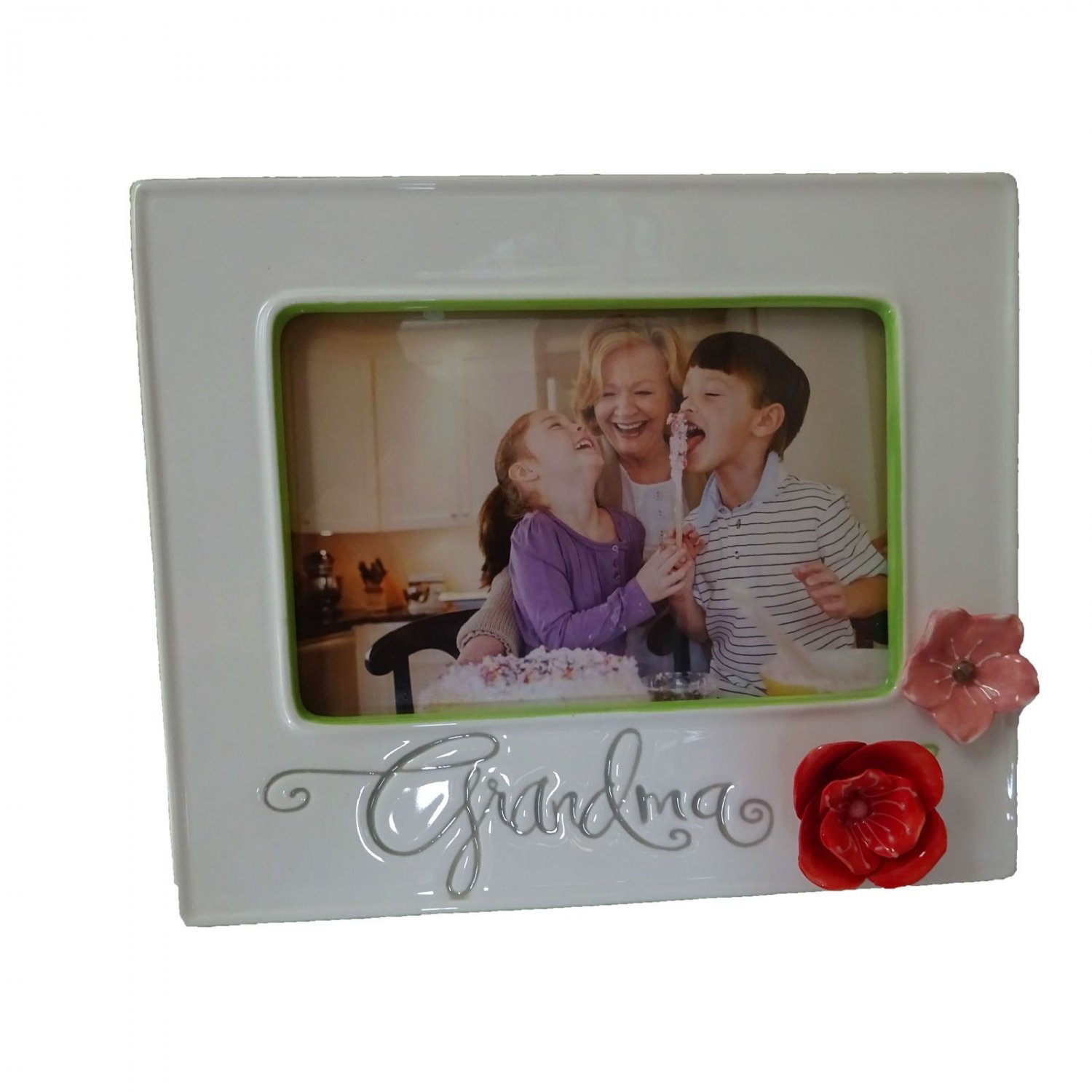 Hallmark Grandma Mother Handcrafted Sculpted Floral Photo Frame Picture Flower