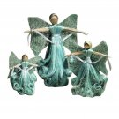 Blue Angel Albaca Fiber Holiday Christmas Decorations Figurines Set of 3