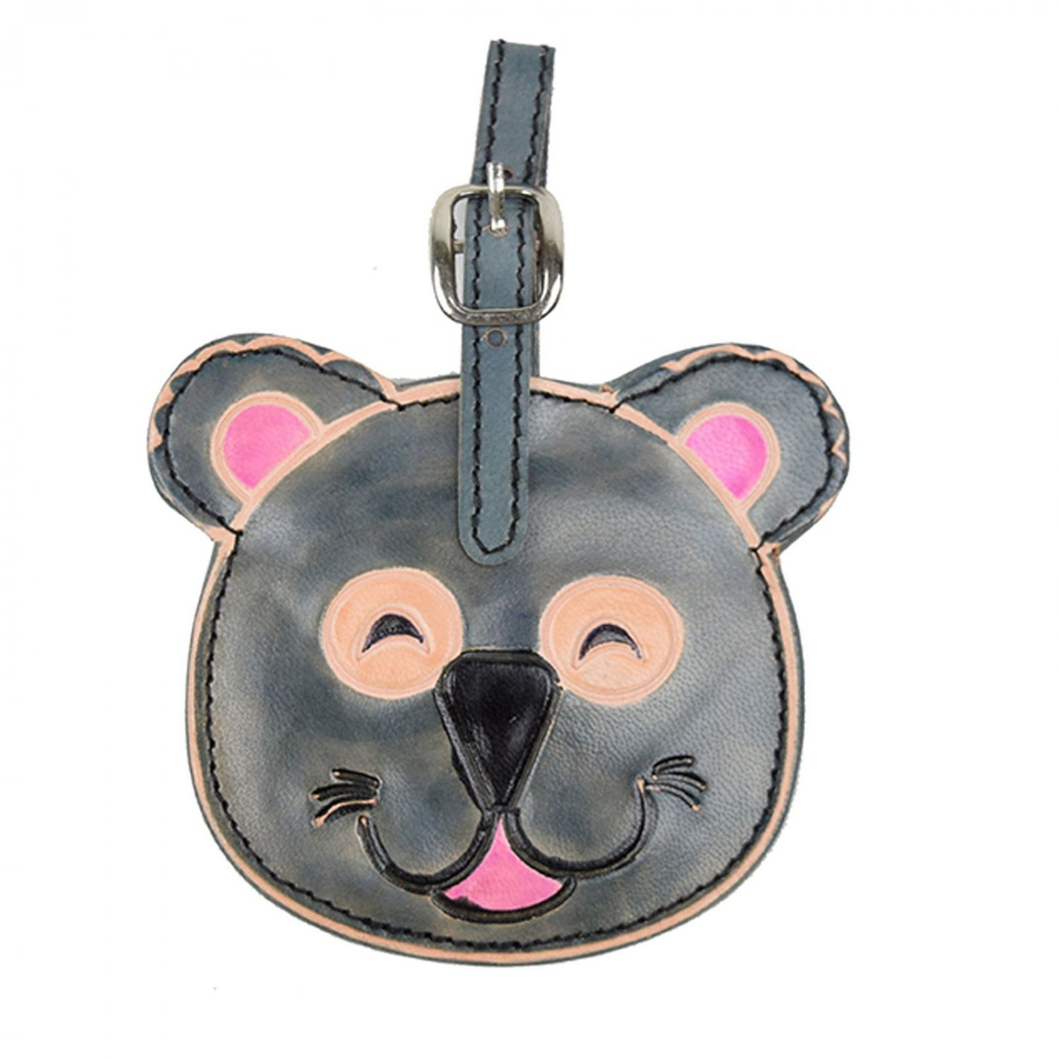 Smiling Koala Luggage Animal Leather Tags Print ID Suitcase Travel Tag